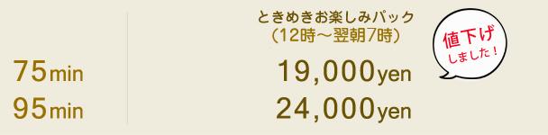 【ときめきお楽しみパック】料金詳細